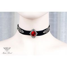 Designer clothes, shoes & bags for women SSENSE – ruby jewelry Black Ruby, Black Gems, Ruby Red, Goth Jewelry, Ruby Jewelry, Jewelry Necklaces, Black Choker Necklace, Ruby Necklace, Gemstone Necklace