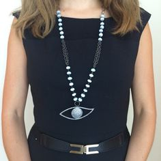 The Evil Eye Necklace with the Gorgeous Opal Chain