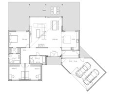 Modern House Plan, Abundance of natural light., three bedrooms, suitable to wide…
