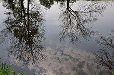 Mirror, mirror... A warm afternoon in romantic garden of Arkadia, Poland.
