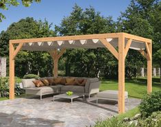 The pergola kits are the easiest and quickest way to build a garden pergola. There are lots of do it yourself pergola kits available to you so that anyone could easily put them together to construct a new structure at their backyard. Pergola En Kit, Retractable Pergola, Building A Pergola, Small Pergola, Modern Pergola, Pergola Canopy, Pergola Swing, Deck With Pergola, Outdoor Pergola