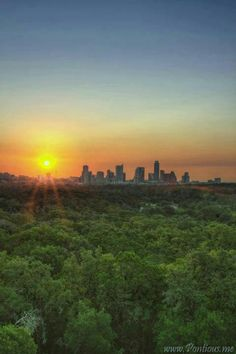 TEXAS~Sunset in Austin, Texas.