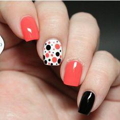#Nail #Art #Dots #Simple #Sexy