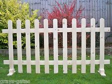 Freestanding Portable Event Display Barrier Temporary Wooden Picket Fence Panels