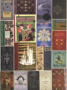 """rereadingharry: """" """" Wizarding books (click through for full size) """" Love these. """""""