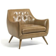 Precedent Furniture Marley Chair Brown Leather Formerly DwellStudio Channing Chair