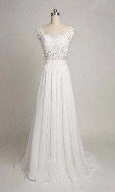 How about is the dress? 1.Silhouette:A-line 2.Fabric:Chiffon 3.Embellishment:Beaded 4.Neckline:V-neck 5.Sleeve:Sleeveless 6.Waistline:Natural 7.Hem-length:Sweep Train 8.Back Details:Zipper 9.Fully Lin