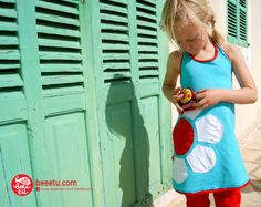 Sneak preview BeeeTú #summer dress. Clothing and a toy. To dress... and to play. Soon available at www.beeetu.com #kids #dress