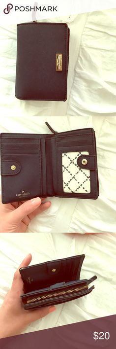 Kate Spade wallet Navy blue Kate Spade wallet with coin pocket. kate spade Bags Clutches & Wristlets