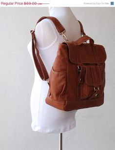 LABOR DAY SALE 15  Pico2  Backpack in Wax Canvas Old by nottoc, $58.65
