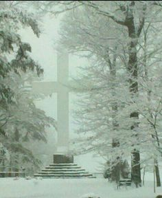 "Sewanee, TN-""The cross"" was beautiful during our last heavy snow!"