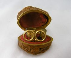 Antique 1800's MINIATURE WALNUT with 5 Implements Outfitted Sewing Box Etui   Sold   Price: $945.00 USD