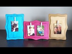 DIY Clothespin Photo Holder | Print your favorite moments from your phone with the HP Sprocket and display them on a DIY clothespin photo holder!