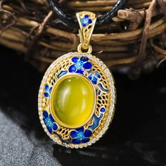 Luxury Genuine Yellow Agate Blue Flower Solid 925 Sterling Silver Enamel Charm     Tag a friend who would love this!     FREE Shipping Worldwide     Get it here ---> http://jewelry-steals.com/products/luxury-genuine-yellow-agate-blue-flower-solid-925-sterling-silver-enamel-charm/    #red_bottom_shoes