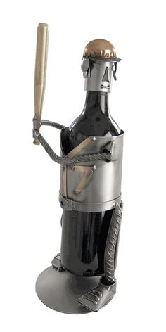 Recycled Steel Baseball Batter Wine Bottle CaddyYOU CHOOSE THE NUMBER!
