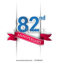 82nd Anniversary celebration logo, Vector design template elements for your birthday party.