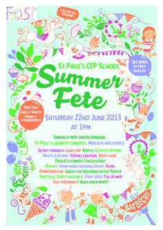 School summer fair poster