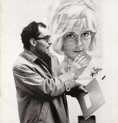 """waltdisneywithblood:  Jean-Luc Godard (and Sylvie Vartan) on the set of Masculin Féminin (1966). (Via)   """