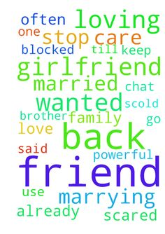 I wanted my friend back, he is loving his girlfriend - I wanted my friend back, he is loving his girlfriend and wanted to marry her, he is already married and has one daughter, please stop him from marrying her, every day they keep chatting from 11.30 to 4am, I am scared what is plan , he often go and meet her, he was like My brother very loving and care taking me, he use to chat with me till 2am, if I refuse he get wild or become like cyco calling me at 1am and blasting, today he hates me…