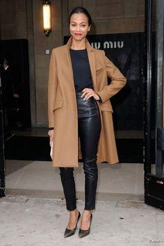 zoe saldana style | Zoe Saldana redoublait de style pour assister au défilé Miu…