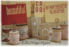 Crafts Made with Thread Spools   have had this jar of wooden thread spools for several years so when ...