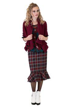 Rochelle Roxanne Skirt   Plaid Skirts   Work Wear   Annah Stretton Work Skirts, Plaid Skirts, Faeries, Tartan, Work Wear, Feminine, Cotton, How To Wear, Fashion Design