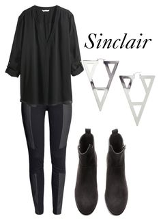 """""""Sinclair"""" by the100style ❤ liked on Polyvore featuring H&M, Sinclair and the100"""