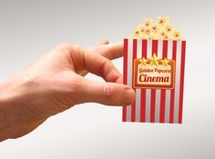 Clever Popcorn Cinema Business Card!  #design