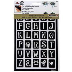 FolkArt® Peel & Stick Painting Stencils, Genie Alphabet