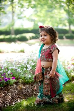 A photo with kids is certainly worth framing. Presenting 18 top wedding photos with kids you'd certainly want to steal for your big day. Wedding Dresses For Girls, Indian Wedding Outfits, Indian Outfits, Girls Dresses, Cute Little Baby Girl, Little Babies, Baby Girls, Kids Lehenga, Lehenga Choli
