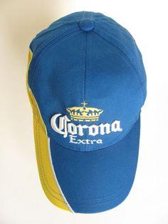 Corona Extra Beer Hat Blue Yellow Embroidered Baseball Hat Adjustable New #Corona #BaseballCap