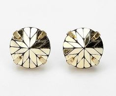 graphic gold studs, urban outfitters