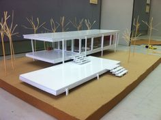 Farnsworth House model Mies Van Der Rohe by first year Architecture students.