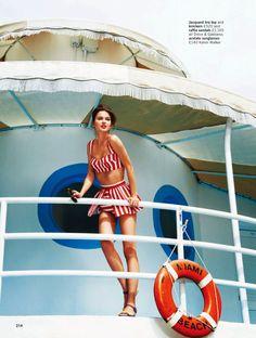 Sun sea glamour Rudi Ovchinnikova and Wes by Pamela Hanson for Glamour UK May 2013 6