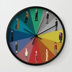 Buy Doctor Who? Wall Clock by The Joyful Fox. Worldwide shipping available at Society6.com. Just one of millions of high quality products available.