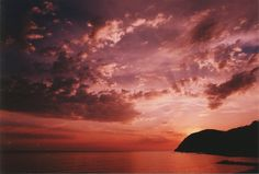 A Beautiful sunset in Levanto, Italy.
