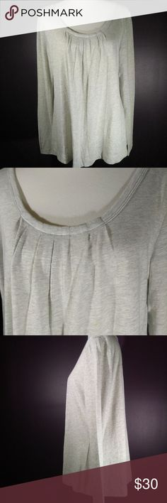 Sweet Vintage cabi Fall 2011 Tucker Tee NWOT Darling vintage cabi Fall 2011 - Tucker Tee #674 ♥ New w/out tag! This is a great cabi piece, this oversized tee is a light heather grey & goes with everything! Lightweight super soft fabric with lovely pleated front detail. Perfect to dress up or down!   Fabric: 60% Cotton - 40% Polyester  Garment Care: Hand wash cold - Flat to dry   ♥ Please visit my closet again soon - lots of excellent deals on minty condition cabi! ♥ CAbi Tops Blouses
