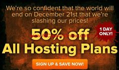 myhosting end of the world hosting sale discount