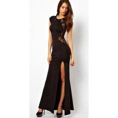 Cheap Elegant Sexy Lace Slim Split Dress &Party Dress For Big Sale! Pretty Dresses, Sexy Dresses, Beautiful Dresses, Gorgeous Dress, Long Dresses, Fashion Dresses, Awesome Dresses, Sleeveless Dresses, Fashion Clothes