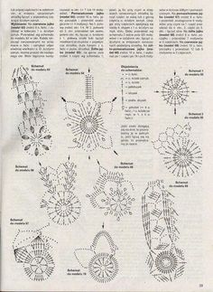 pisanki schematy - Anna S - Picasa Web Album Crochet Snowflake Pattern, Easter Crochet Patterns, Crochet Motifs, Crochet Snowflakes, Crochet Doilies, Crochet Stone, Crochet Ball, Thread Crochet, Christmas Bells