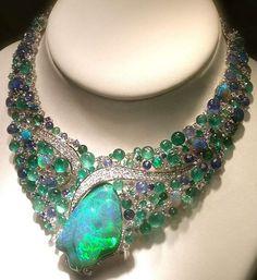 SCAVIA,opal necklace  #opals #opalsau #opalsaustralia