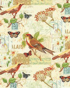 Oak Avenue - Birdsong Symphony -Quilt Fabrics from www.eQuilter.com