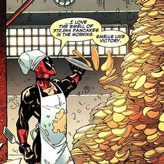 Oh, Deadpool. Even though he's Marvel, he's marvelous. Oh, haha, did you see what I did there?! Oh, I am so clever! Teehee! :D