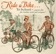 Definitely a relic from the past: 1929 ad promoting children riding their bicycles