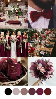 Excellent simple ideas for your inspiration Burgundy Wedding Theme, Wine Colored Wedding, Fall Wedding Colors, Rose Wedding, Wedding Color Schemes, Dream Wedding, Wedding Themes Red, Cranberry Wedding Colors, February Wedding Colors