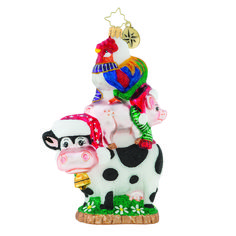 We're blaming this sky-high pile-up on the pig who, rumor has it, promised greener pastures on the other side of the fence! — Products shown: Piggyback Pile-up! The Christopher Radko Company tagged Piggyback Pile-up! Classic Christmas Decorations, Holiday Decor, Christmas Ideas, Christmas Tree, Radko Christmas Ornaments, Animal Dress Up, Christopher Radko Ornaments, Artist And Craftsman, Merry Christmas And Happy New Year
