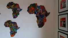 Big Africa with medium sized Africa's