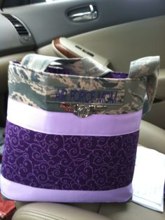 My custom made Air Force Mom purse form D's Custom Military Purses.