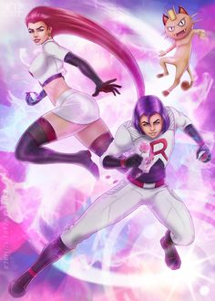 Pokemon Team Rocket by on DeviantArt Equipe Rocket Pokemon, Pokemon Team Rocket, Jessie Pokemon, Cute Pokemon, Pokemon Universe, Best Villains, Nice Curves, Anime Version, Catch Em All