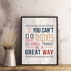 & small things in a great way& Printable Motivational, Poster Prints, Printables, Small Things, Inspirational, Printed, Digital, Print Templates, Prints